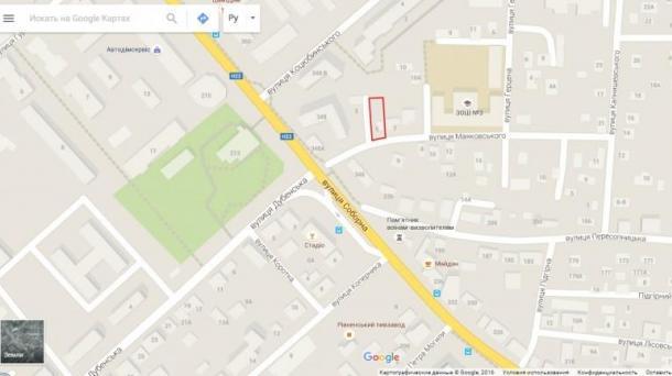 Продається місце для вашого будинку (земельна ділянка) зі всіми комунікаціями в Центрі міста Рівне.